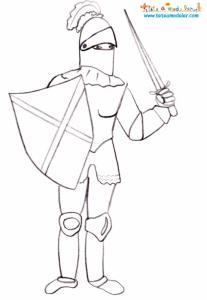 Coloriage chevalier en armure
