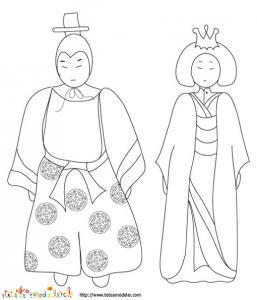 Coloriage  poupées impériales