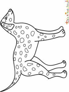 Coloriage d'un chien dalmatien