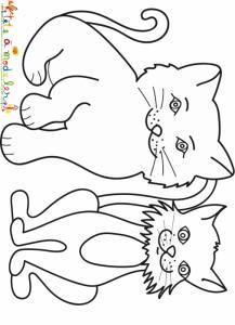 Deux chats de goutière à colorier