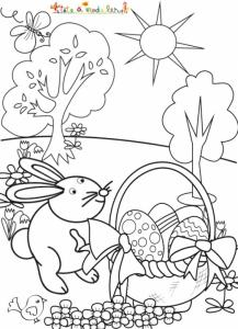 Dessin de Pâques à colorier