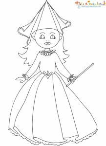 Dessin à colorier d'une petite fée