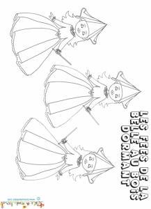 Les trois marraines les fées de la Belle au bois dormant