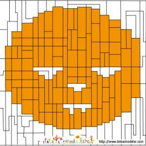 Solution du Jeu de coloriage géométrique : rectangles et carrés pour Halloween