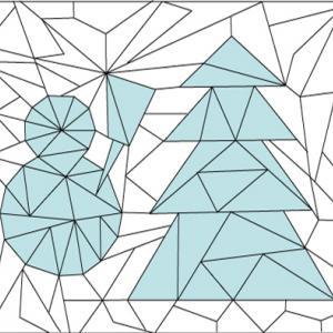 Solution du Jeu de coloriage géométrique : les triangles en hiver n°1