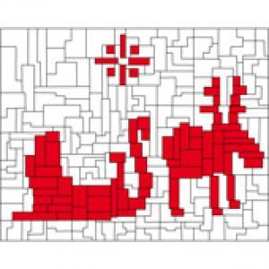 Solution du Jeu de coloriage géométrique : des rectangles en hiver n°2