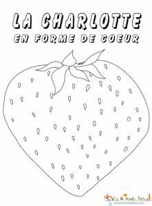 Coloriage Fraise en forme de coeur