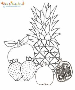 Coloriage Fruits Tropicaux.Coloriage Des Fruits A Noyau Ou A Pepins