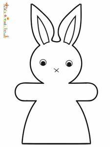 Coloriage lapin fille facile