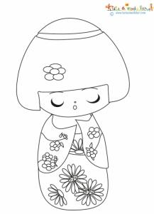 Petite kimmidoll à colorier