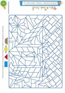 Coloriage magique 7 - les trapèzes et autres formes