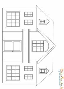 Dessin d'une maison à imprimer
