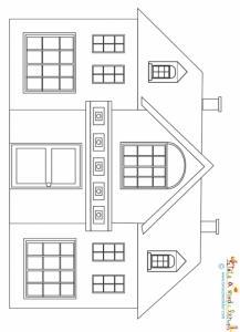 Maison à petit fronton à imprimer
