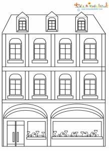 Immeuble de ville pour le coloriage