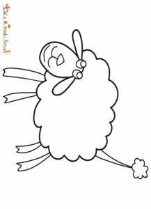 Coloriage agneau de Pâques