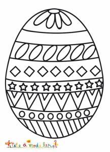 Oeuf de Pâques très graphique à colorier