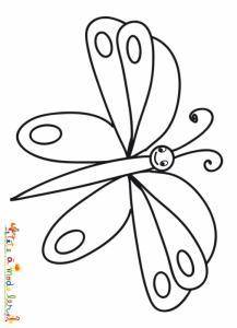 Papillon aux gros yeux à colorier