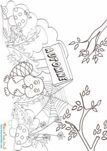 payasage d'automne à colorier