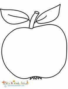 Coloriage d'une belle pomme