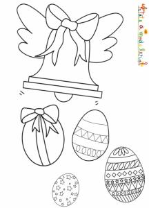 Une cloche ailée largue les oeufs de Pâques