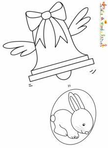 Une cloche lache un oeuf de Pâques