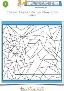 Coloriage magique 2-1 les triangles