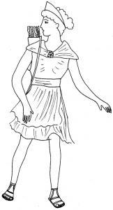 Coloriage Rome antique : déesse Diane