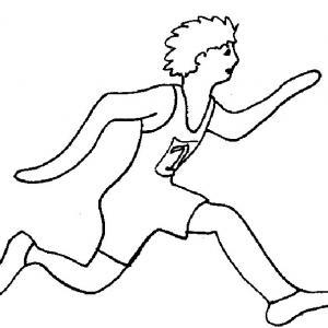 Coloriage sport d'été : sportif course à pied