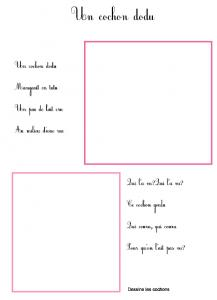 Imprimer la comptine un cochon dodu