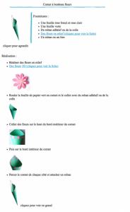 Cornet à bonbons fleurs version à imprimer