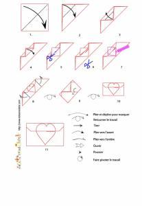 Croquis origami de l'enveloppe à imprimer