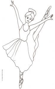 Coloriage d'une danseuse