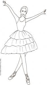 coloriage sur la danse