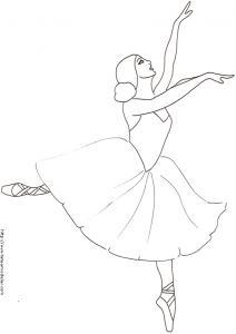 Coloriage d'une danseuse classique