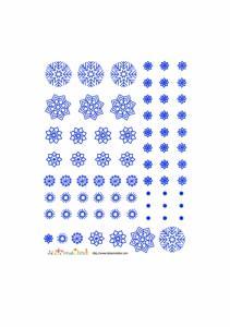 Flocons bleus à imprimer