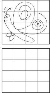 Réalise un dessin à cases : imprime ce jeu de dessin à cases et reproduit le dessin du papillon en t'aidant des cases