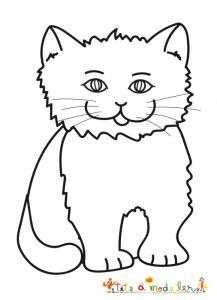 Dessin d'un petit chat au pelage épais