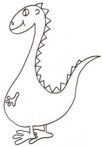 coloriage d'un dinosaure à gros ventre