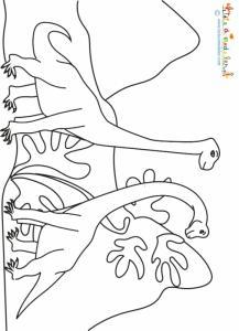 Coloriage de dinosaures du jurassique