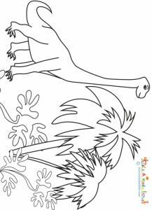 Brachiosaure dans la nature