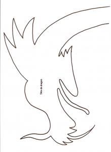 Imprimer le modèle de tête de dragon chinois