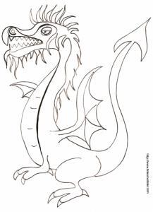 Coloriage d'un dragon classique dessin 12