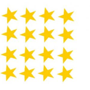 Imprimer les étoiles du drapeau de l'Union Européenne