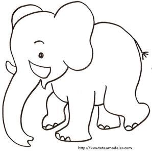 Coloriage d'un éléphanteau