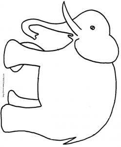 coloriage d'éléphant dessin 1