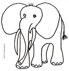 coloriage d'éléphant dessin 2