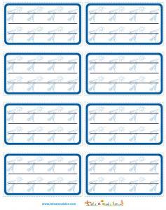Etiquette de cahier bleues a imprimer