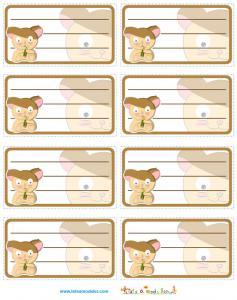 Etiquettes illustration hamster