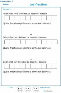 exercice 2 pour comprendre les fractions