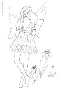 Une fée boudeuse à imprimer et à colorier : cette petite fée n'est pas très contente, votre enfant saurait-il pourquoi ? Peut-il trouver ce qui contrarie cette petite fée boudeuse ?